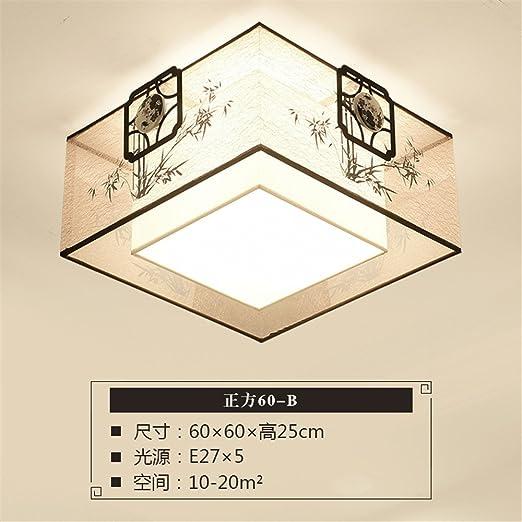 Gunxifacai Luz de techo chino moderno salón cuadrado LED ...