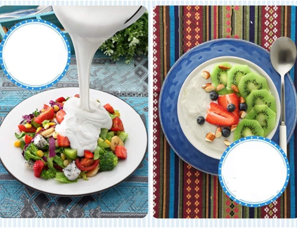 GSAGJsnj Yogur Griego, Yogur de Soja, cuajada, Volumen de 1 litro, fácil de Limpiar, Hacer Yogur bioactivo casero Fresco en su Propia Cocina, 194 * 194 * 185 mm: Amazon.es