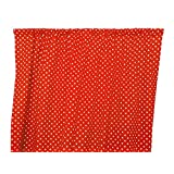 Zen Creative Designs Premium Cotton Small Polka Dot Curtain Panel / Home Window Decor / Window Treatments / Small / Dots / Spots (58 Inch x 63 Inch, White Red)