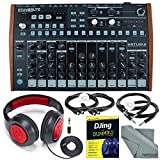 Arturia DrumBrute Analog Drum Machine and Deluxe Bundle w/ Stereo Headphones + Djing for Dummies Guide + Cables + Fibertique Cloth
