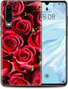 استيكر هواوي ب30 - فن - زهور حمراء - فن