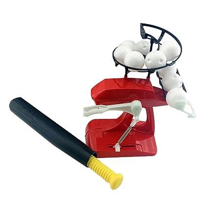 WINOMO Mini Práctica de Béisbol Ajustable Máquina de Pitching ...