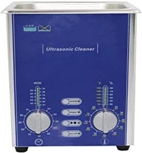 Derui Ultrasonic Cleaner Controlled Heating and Timing Used to Clean Jewelry PCB Denture Cleaner (1.3L)