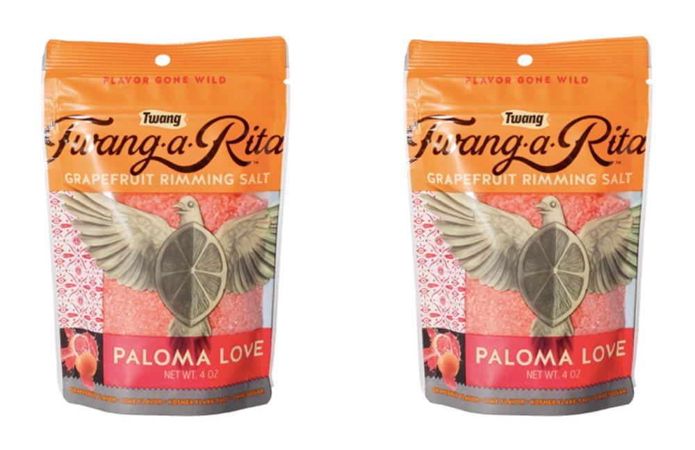 Twang-a-Rita Rimming Salt Varieties - 4 ounce pouch - (2 pack) (Paloma Love (Grapefruit)) by Twang (Image #3)