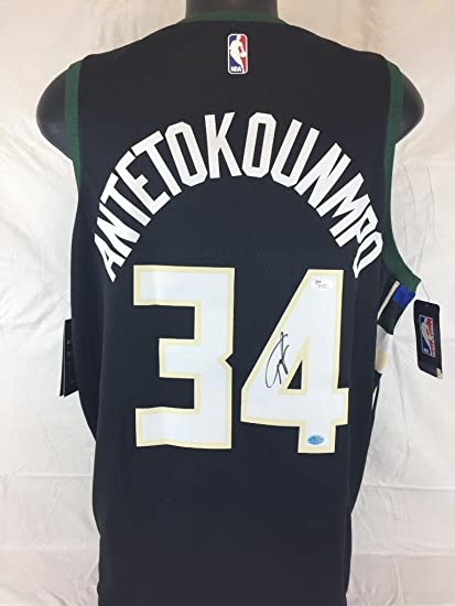 dd9cd8678 Image Unavailable. Image not available for. Color  Giannis Antetokounmpo  Signed Nike Connect Bucks Swingman Jersey Giannis Antetokounmpo player coa  Jsa ...
