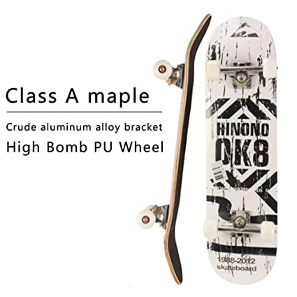Amazon com : HOPE123 Skateboard - Complete PRO Skateboard