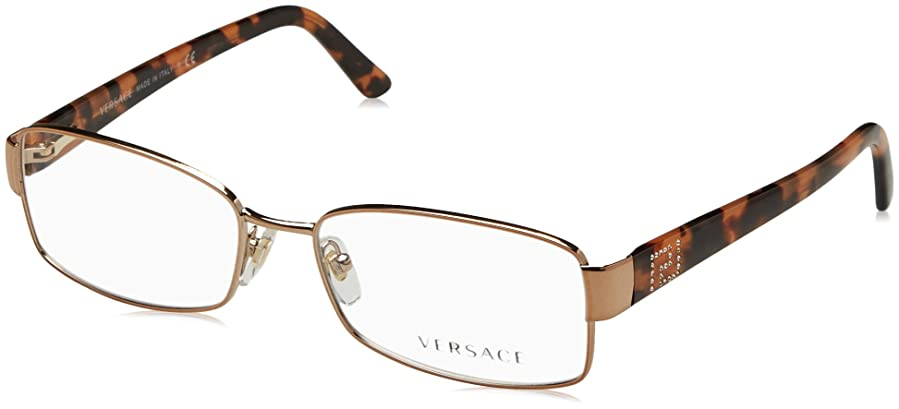 Amazon.com: Versace VE1177BM Eyeglass Frames 1052-54 - Copper ...