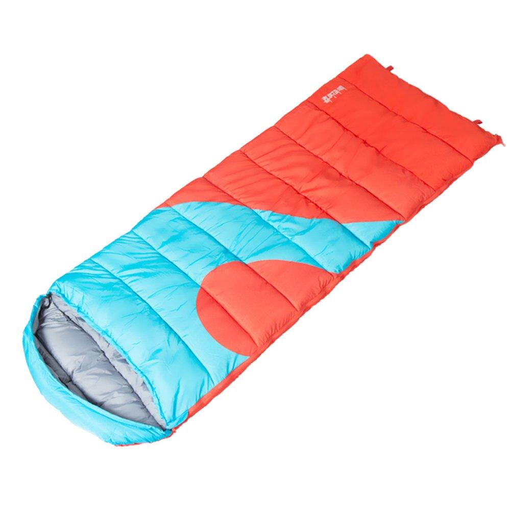ZYX Yixin Schlafsäcke Schlafsack Erwachsene Outdoor Einzelne Hohle Baumwolle Tragbare Camping Schlafsäcke Orange