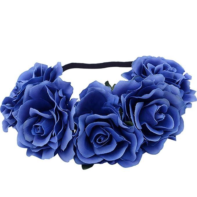 8d63391caa4319 Damen Simulation Rose Blumen Haarband Stirnband Kopfband, LEEDY Frauen  Tanzparty Party Geschenk Neuheit Blume Muster bedruckt Verdreht Stirnbänder  Mädchen ...