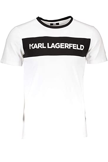 """T-Shirt /"""" Karl Lagerfeld /"""" White the Happiness Is Have My T-Shirt New"""
