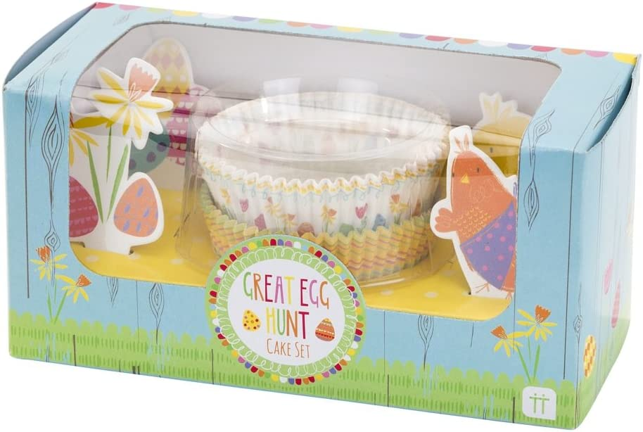 Talking Tables The Egg Hunt 40 Cake Cases and 20 Toppers