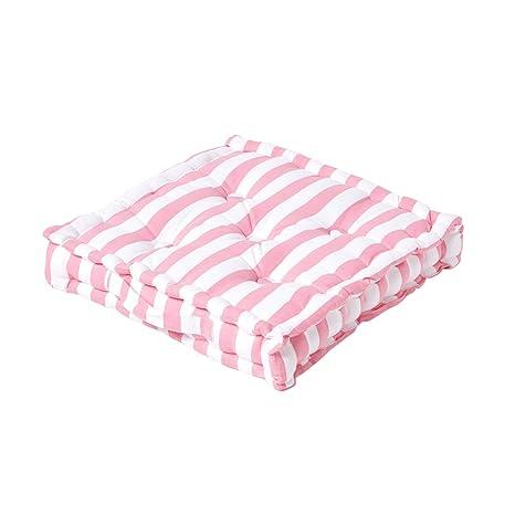 Homescapes Thick Stripe Rosa Cojín, 100% algodón, cojín de ...