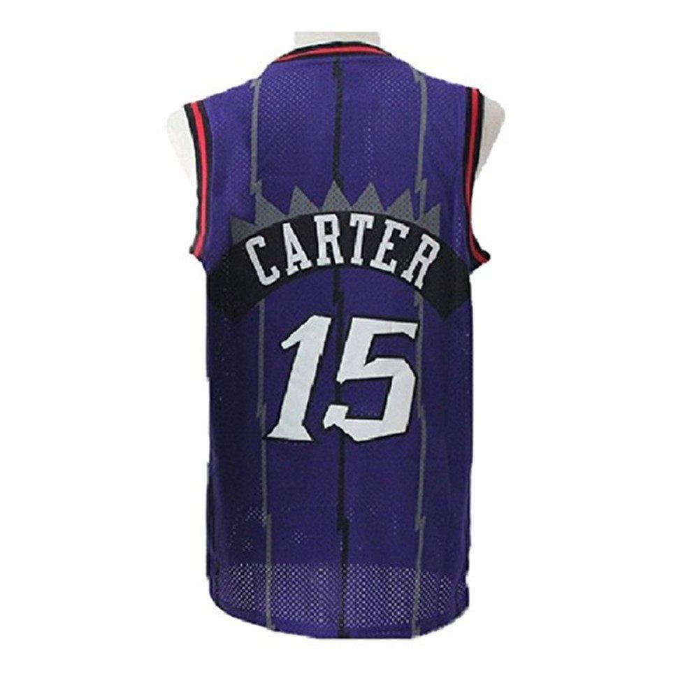 Bjersore Mens Carter #15 Purple Hardwood Classic Vince Basketball Jersey Size XXL