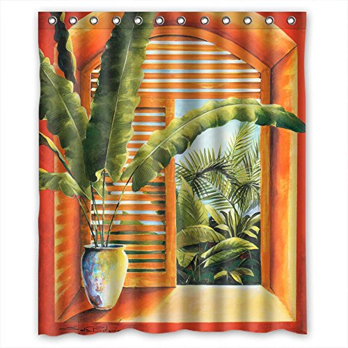 MaSoyy Shower Curtains Of European And American Style Western And Occident Style Art Painting Polyester Width X Height / 60 X 72 Inches / W H 150 By 180 Cm Best Fit For Artwork Couples B