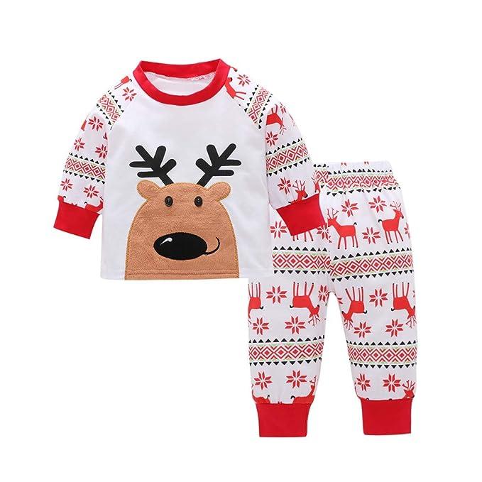 1-5 años Bebe Niño Niña Ciervo Camiseta Tops + Pantalones Pijama de Navidad Conjunto de Ropa: Amazon.es: Ropa y accesorios
