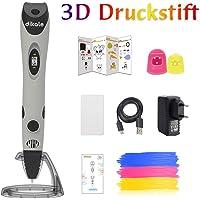 dikale 3D Stifte mit PLA Filament 12 Farben 07A 3D Stift für Kinder mit PLA Farben und 250 Schablone eBook, 3D Pen für Erwachsene, Bastler zu kritzeleien, basteln, malen