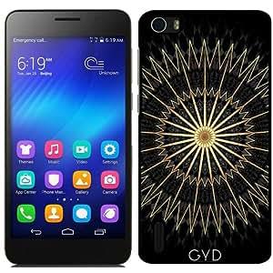 Funda para Huawei Honor 6 - Geométrico Oro Negro by Nina Baydur