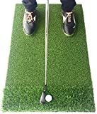 Motivo Golf StrikeDown Dual-Turf Golf Mat (36in x 24in) with Free Practice Balls and Free Two-Day Delivery