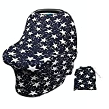 ARNZION Baby Car Seat Covers for Baby Boys Girls Versatile Stretchy Babies Car Seat Cover Set Twinkle Stars Printing Infant Car Seat Canopy Nursing Covers Breast Feeding Covers