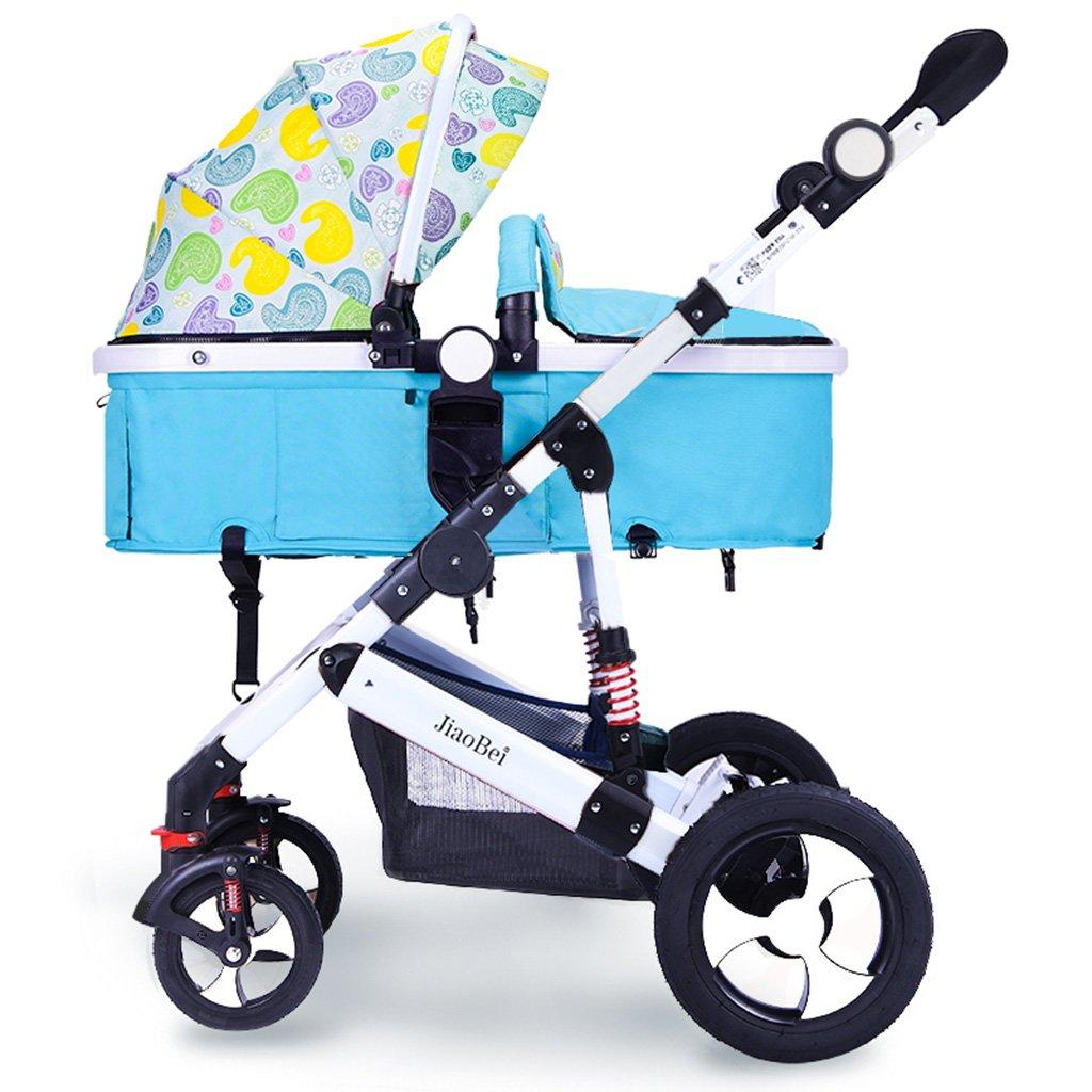HAIZHEN マウンテンバイク ベビーカートのカーボンスチールフレームは、折りたたみ可能な非膨張式ショックアブソーバタイヤトロリーサンシェードツーウェイプッシュロッドサンプロテクションアンチUVベビーキャリッジ 新生児 B07DL9591C 4 4