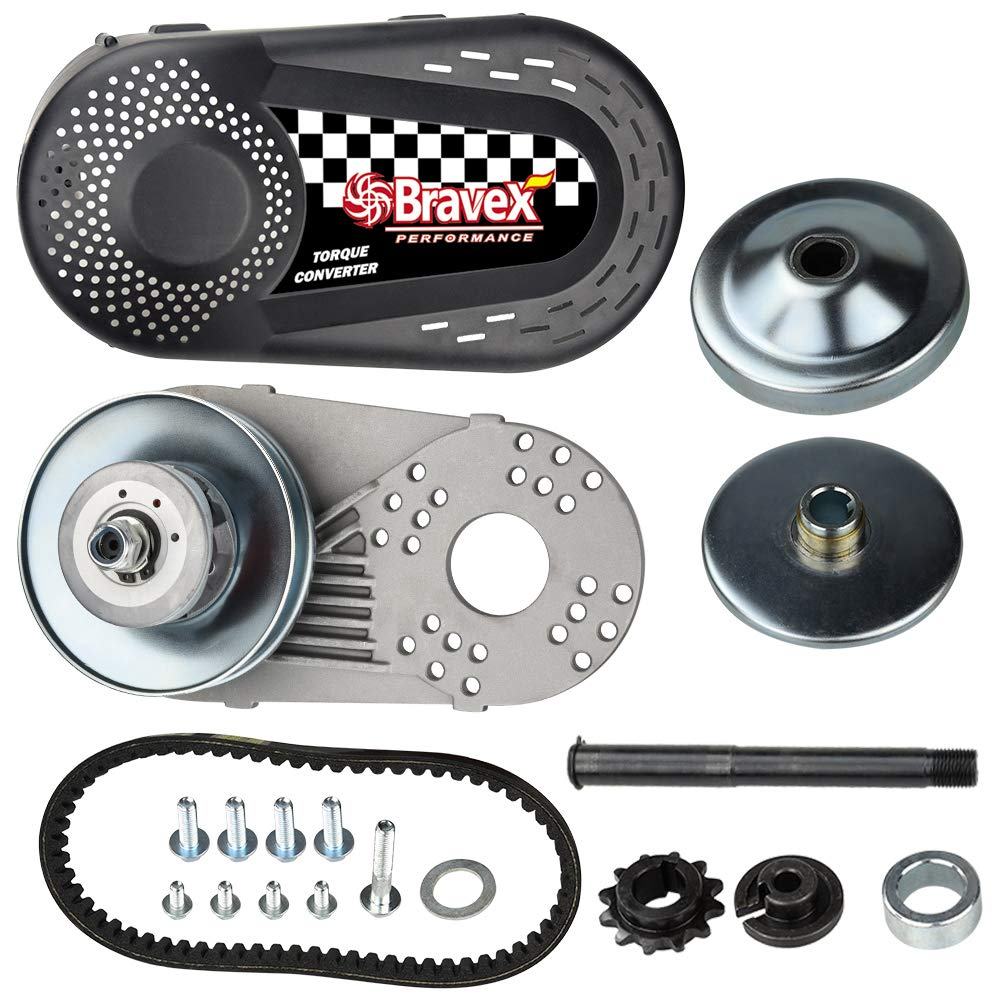 Complete Torque Converter Go Kart Clutch Kit Set 3/4'' 10T #40/41 and 12T #35 Chain Replacement for 218353A Manco Comet TAV2
