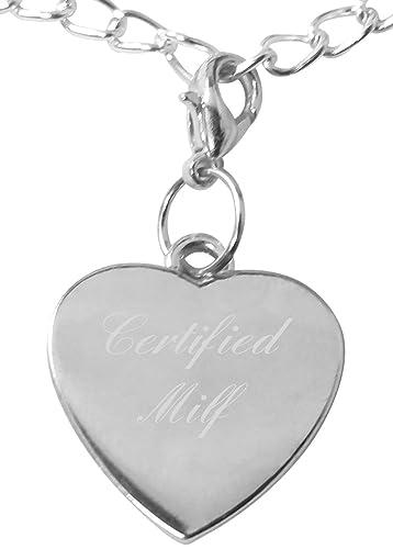Clip auf zertifiziert MILF Herz Armband Charme, kompatibel mit ...