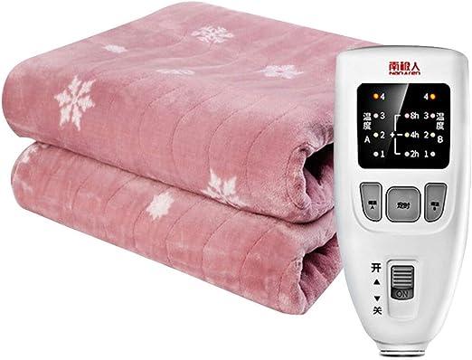 Manta suave de lujo rosa con tecnología de calentamiento rápido ...