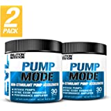 Evlution Nutrition Pump Mode Nitric Oxide Booster to Support Intense Pumps, Performance and Vascularity, 30 Serving, Unflavored (2-Pack)