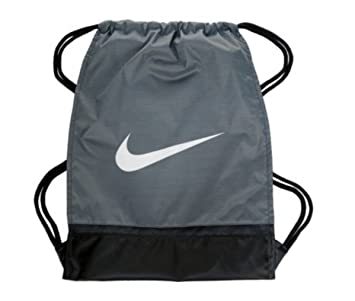 Nike Brasilia 8 Gymsack Mochila cordón Bolsa Gear Tote Lobo Gris/Negro Firma Blanco Swoosh: Amazon.es: Deportes y aire libre