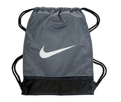 Amazon.com  NIKE Brasilia 8 Gymsack Backpack Drawstring Bag Gear Tote Wolf  Grey Black Signature White Swoosh  Sports   Outdoors fc4175a68c1ee