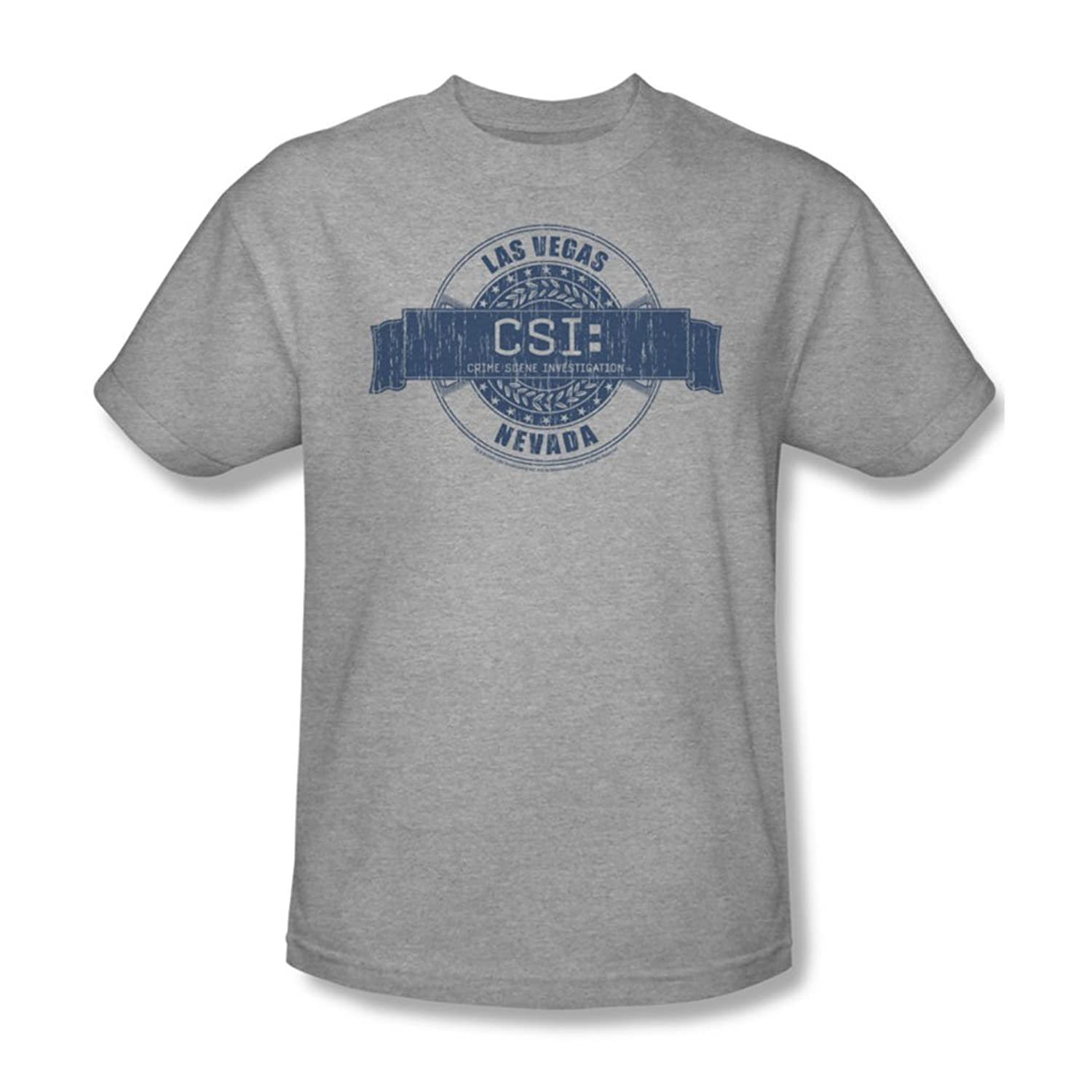 Cbs - Csi / Csi Vegas Badge Adult T-Shirt In Heather
