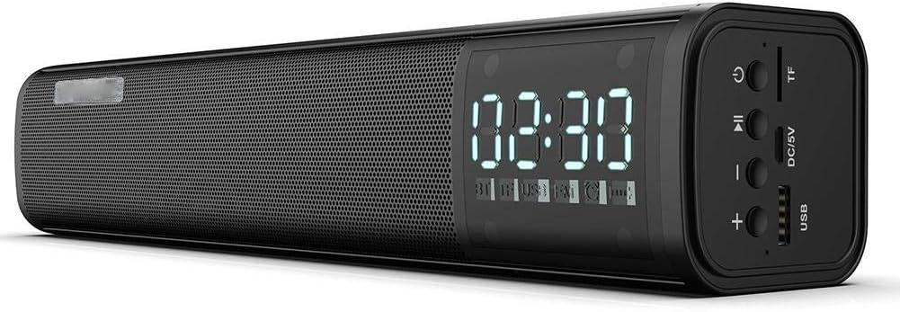 Bindpo Mini Barra de Sonido, 5W * 2 Altavoz inalámbrico Bluetooth estéreo TWS con Ranura para Carro USB/TF para teléfono, computadora portátil, Tableta, Smart TV: Amazon.es: Electrónica
