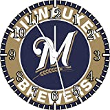 Brewers Frameless Borderless Wall Clock F112 Nice For Gift or Room Wall Decor