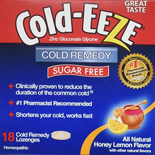 Quigley Cold-Eeze Sugar Free Drops, Natural Honey Lemon, 18 (Drops Sugar Free Honey)