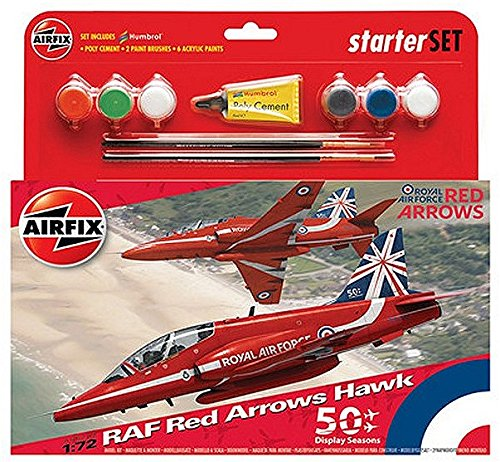 Airfix 1:72 RAF Red Arrows Hawk 50th Display Season Starter Set () (Arrows Hawk Red)