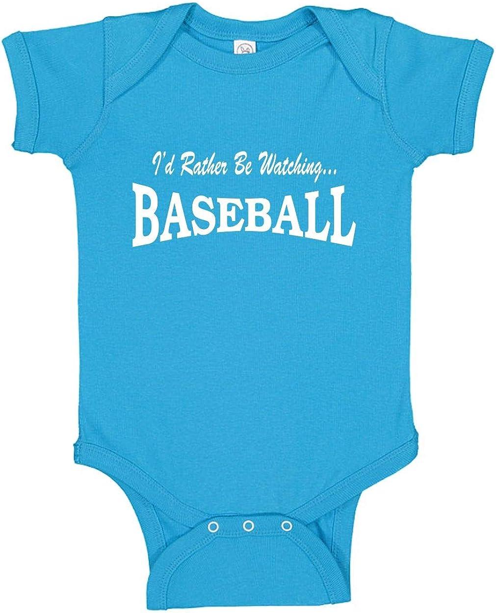 Id Rather be Watching Baseball Unisex Baby Bodysuit T-Shirt