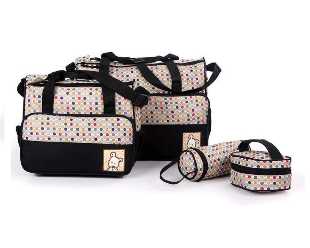 VADOO 5teiliges B/är Baby Wickeltaschen Casual Messenger Bag Umh/ängetasche Schultertasche Mutter-Kind-Tasche Mama Handtasche