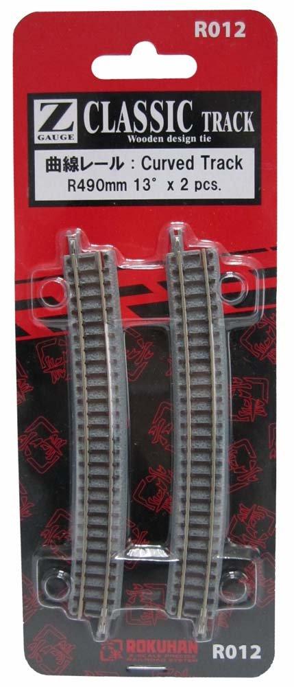 Spur Z R012 gebogene Schiene R490mm 13 (Japan-Import) Rokuhan