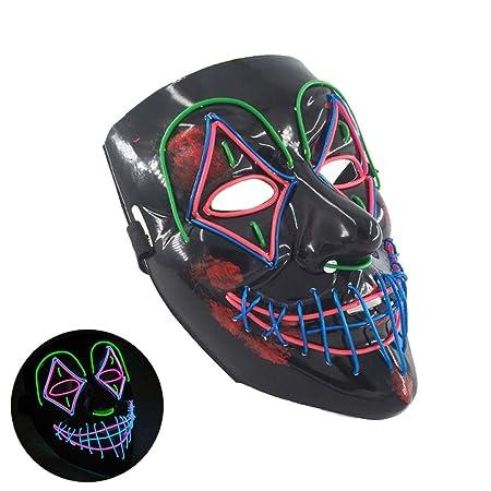 XUE LED De Halloween Máscara De Halloween Máscara De Miedo ...