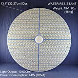 10,000-Lumen 44-Watt EXTRA BRIGHT 13.1'' Diameter COOL WHITE LED (6000K) WAREHOUSE LIGHT, GARAGE LIGHT or GROW LIGHT -- 120Vac. NON-DIMMABLE. MEDIUM BASE (E26). P/N: SPTL1120LM-LB-CW