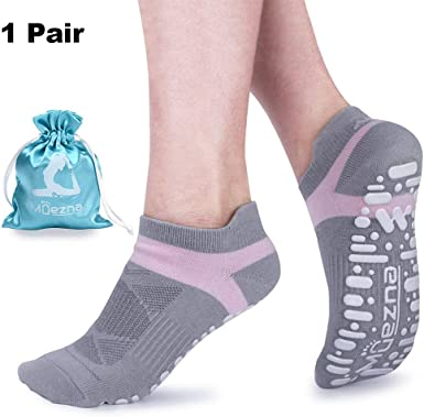 Non-slip Made in Brazil PILATES AND YOGA scented Woman socks size: 6-10