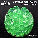 2000PCS WATER BALLS GROWING CRYSTAL SOIL AQUA BEADS 4.1MM GREEN TABLE DECOR