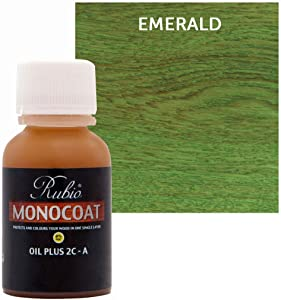 Rubio Monocoat Oil Plus 2C-A Sample Wood Stain Emerald 20ml