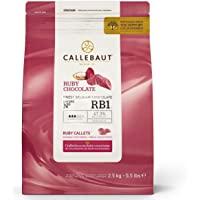 Callebaut N° RB1 - Cobertura de Chocolate Ruby - Finest Belgian Ruby Chocolate (Callets) 2,5kg