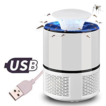 Mosquito Killer Lamps Electronic Usb Mosquito Killer Lamp Strong Fan Suction Pest Led Fly Mosquito Killer Night Lamp Repeller Zapper Insect Trap Outdoor Lighting