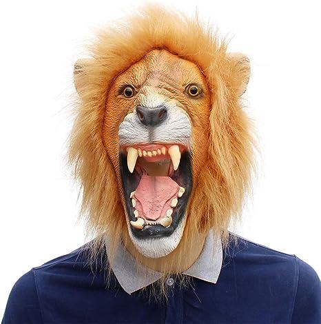 VLERHH Máscara De Látex, Animales Máscaras De Animales De ...