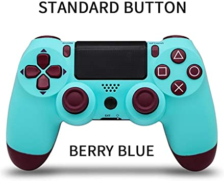 LOGO YCBHD Bluetooth Wireless Gamepad for Sony PS4 Gamepads Controlador Fit Consola for Playstation 4 Gamepad Dualshock 4 Mando de Juegos for PS3 Gamepad (Color : Type2 Berry Blue): Amazon.es: Electrónica