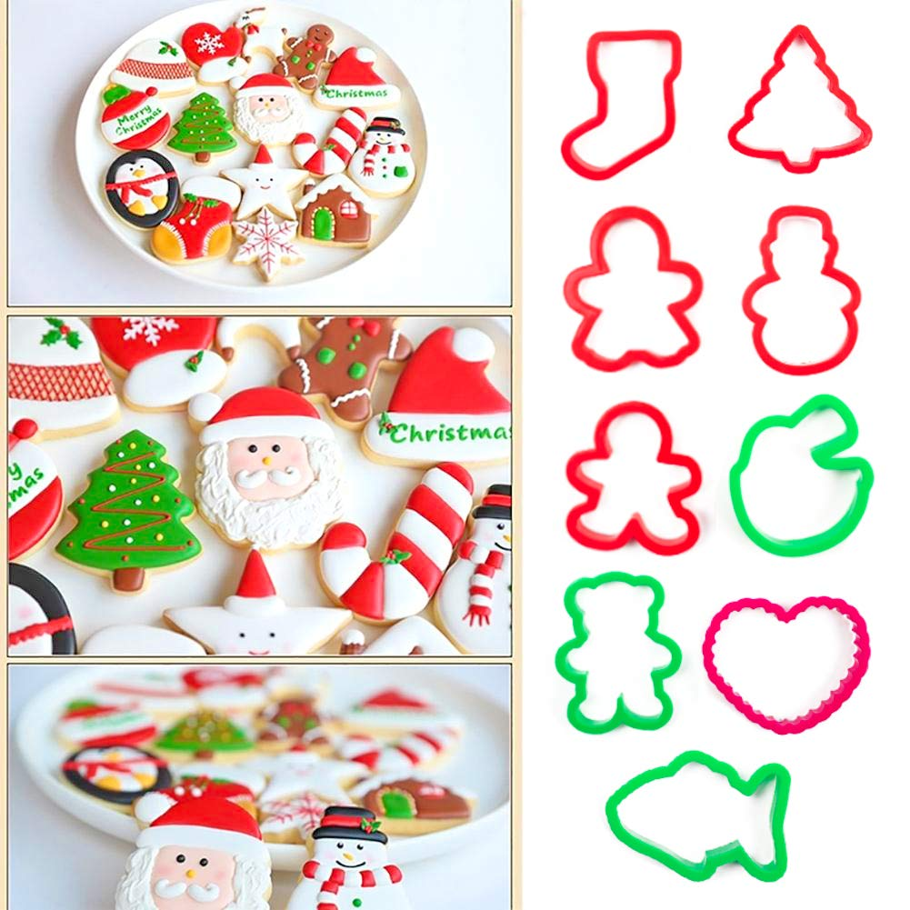 HansGo Christmas Cookie Cutters, 56PCS Gingerbread Man Cookie Cutters Mold Alphabet Cookie Cutters