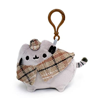 """GUND Pusheen Detective Stuffed Plush Backpack Clip, 4.5"""": Toy: Toys & Games"""