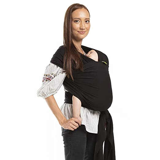 Boba Baby Wrap Carrier, Black - The Original Child and Newborn Sling, Perfect for Infants and Babies Up to 35 lbs (0-36 months)